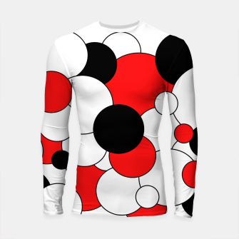 Thumbnail image of Abstract pattern - red, black and white. Longsleeve rashguard , Live Heroes