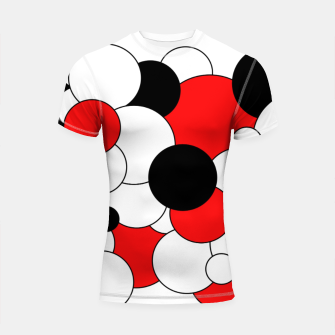 Thumbnail image of Abstract pattern - red, black and white. Shortsleeve rashguard, Live Heroes