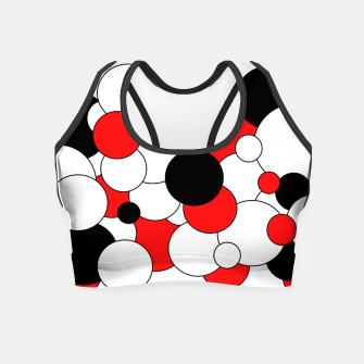 Thumbnail image of Abstract pattern - red, black and white. Crop Top, Live Heroes