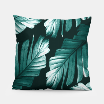 Miniatur Tropical Banana Leaves Dream #2 #foliage #decor #art Kissen, Live Heroes