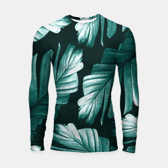 Thumbnail image of Tropical Banana Leaves Dream #2 #foliage #decor #art Longsleeve rashguard, Live Heroes