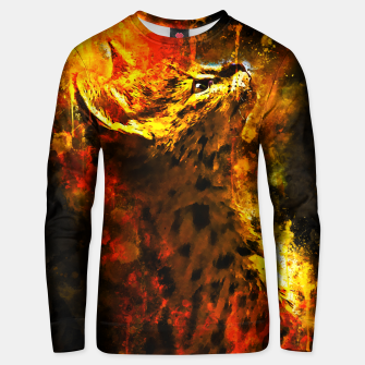 Thumbnail image of gxp serval cat splatter watercolor Cotton sweater, Live Heroes