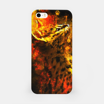 Thumbnail image of gxp serval cat splatter watercolor iPhone Case, Live Heroes
