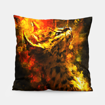Miniatur gxp serval cat splatter watercolor Pillow, Live Heroes