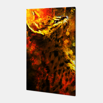 Thumbnail image of gxp serval cat splatter watercolor Canvas, Live Heroes