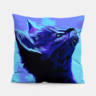 Miniatur gxp serval cat vector art moonlight Pillow, Live Heroes
