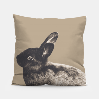Miniatur Little Rabbit on Sepia #1 #decor #art Kissen, Live Heroes