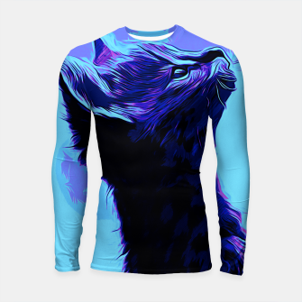 Thumbnail image of gxp serval cat vector art moonlight Longsleeve rashguard , Live Heroes
