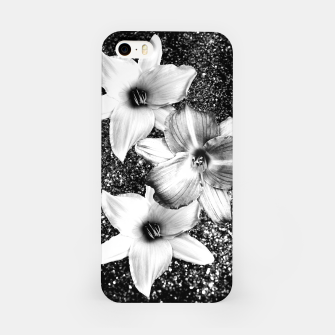 Thumbnail image of White Lilies on Black Glitter #1 #floral #decor #art iPhone-Hülle, Live Heroes