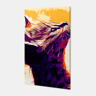 Miniature de image de gxp serval cat vector art late sunset Canvas, Live Heroes