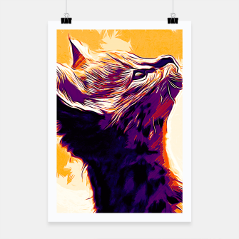 Miniature de image de gxp serval cat vector art late sunset Poster, Live Heroes