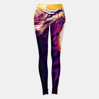 Miniature de image de gxp serval cat vector art late sunset Leggings, Live Heroes