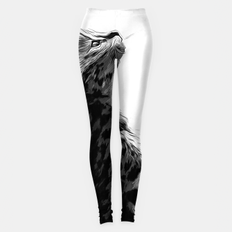 Miniature de image de gxp serval cat vector art black white Leggings, Live Heroes
