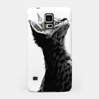 Thumbnail image of gxp serval cat vector art black white Samsung Case, Live Heroes