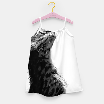 Miniature de image de gxp serval cat vector art black white Girl's dress, Live Heroes