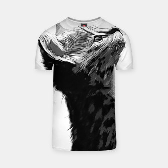 Miniature de image de gxp serval cat vector art black white T-shirt, Live Heroes