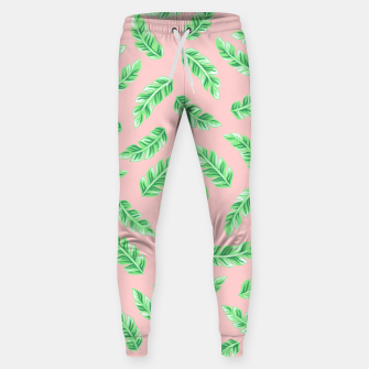 Imagen en miniatura de Pink Block Palm Leaf Print Cotton sweatpants, Live Heroes