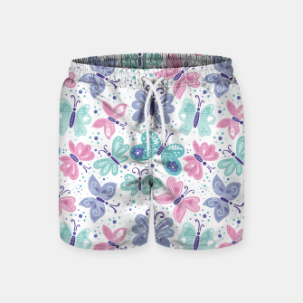 Thumbnail image of Pink, teal and blue butterflies Swim Shorts, Live Heroes