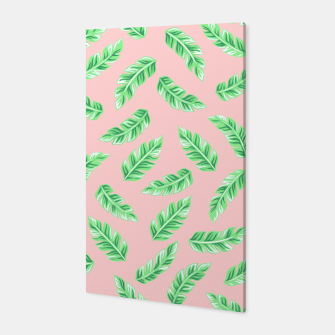 Thumbnail image of Pink Block Palm Leaf Print Canvas, Live Heroes