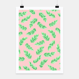 Thumbnail image of Pink Block Palm Leaf Print Poster, Live Heroes