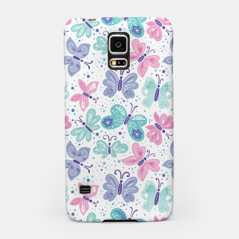 Thumbnail image of Pink, teal and blue butterflies Samsung Case, Live Heroes
