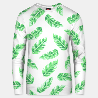 Imagen en miniatura de Block Palm Leaf Print Cotton sweater, Live Heroes