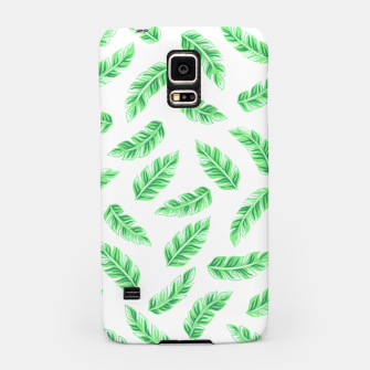 Thumbnail image of Block Palm Leaf Print Samsung Case, Live Heroes