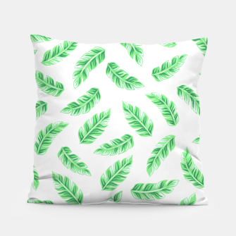 Miniatur Block Palm Leaf Print Pillow, Live Heroes