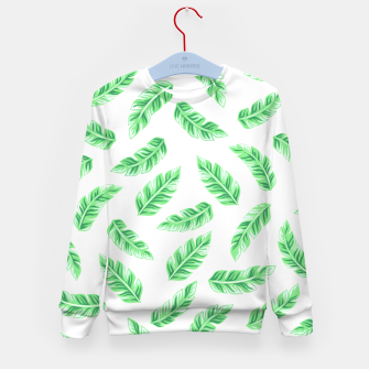 Thumbnail image of Block Palm Leaf Print Kid's sweater, Live Heroes
