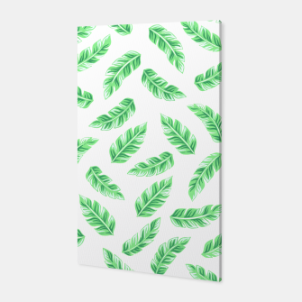 Thumbnail image of Block Palm Leaf Print Canvas, Live Heroes