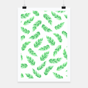 Thumbnail image of Block Palm Leaf Print Poster, Live Heroes