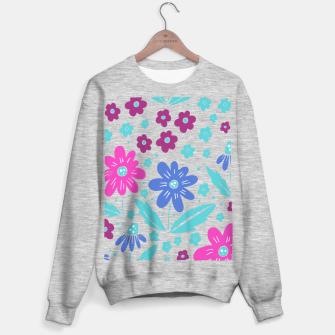 Thumbnail image of pink, blue and teal flowers Sweater regular, Live Heroes