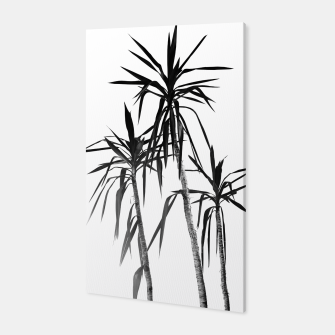 Thumbnail image of Palm Trees - White Cali Summer Vibes #1 #decor #art Canvas, Live Heroes