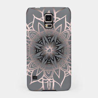 Thumbnail image of Mandala Light Rose Gold Blush on Soft Gray #2 #decor #art Handyhülle für Samsung, Live Heroes