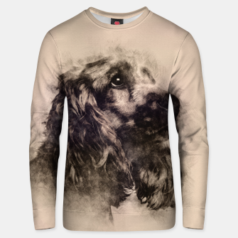 Thumbnail image of English Cocker Spaniel Sketch Cotton sweater, Live Heroes