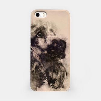 Thumbnail image of English Cocker Spaniel Sketch iPhone Case, Live Heroes