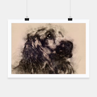 Thumbnail image of English Cocker Spaniel Sketch Poster, Live Heroes