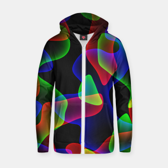 Plasma Color Waves Cotton zip up hoodie thumbnail image