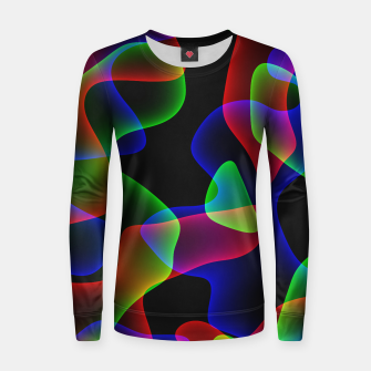 Thumbnail image of Plasma Color Waves Woman cotton sweater, Live Heroes