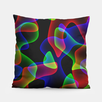 Miniatur Plasma Color Waves Pillow, Live Heroes
