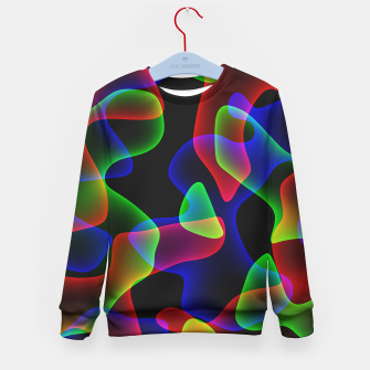 Plasma Color Waves Kid's sweater thumbnail image