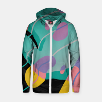 Thumbnail image of Float Cotton zip up hoodie, Live Heroes