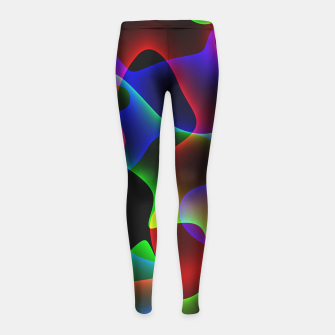 Thumbnail image of Plasma Color Waves Girl's leggings, Live Heroes