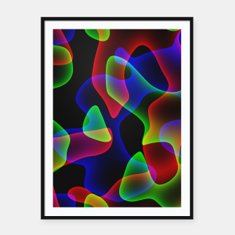 Thumbnail image of Plasma Color Waves Framed poster, Live Heroes