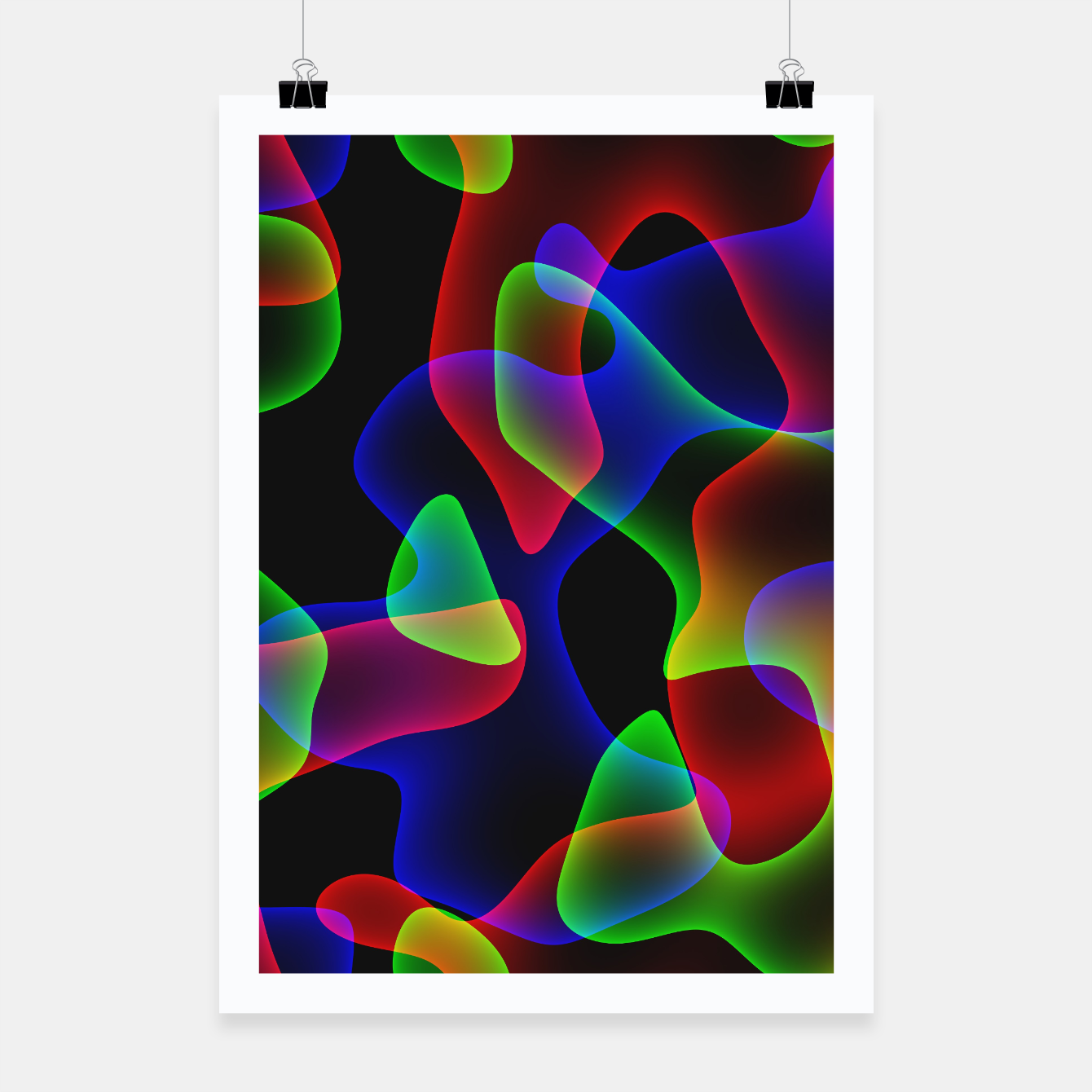 Image of Plasma Color Waves Poster - Live Heroes