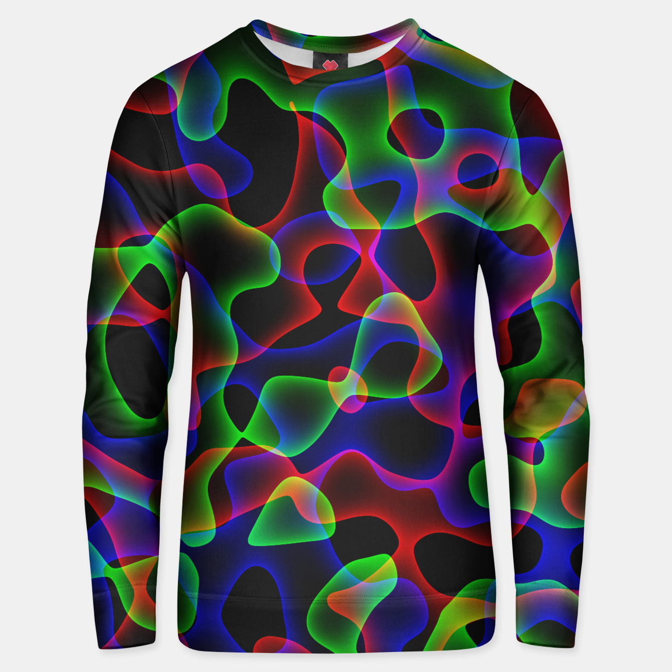 Image of Plasma Color Waves Small Cotton sweater - Live Heroes