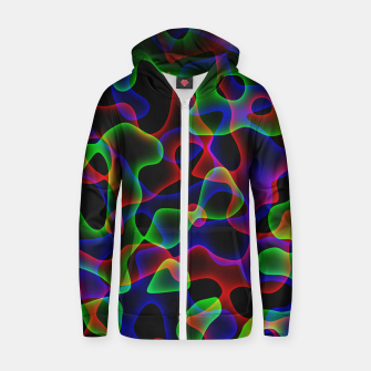 Thumbnail image of Plasma Color Waves Small Cotton zip up hoodie, Live Heroes