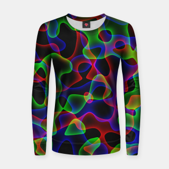 Thumbnail image of Plasma Color Waves Small Woman cotton sweater, Live Heroes