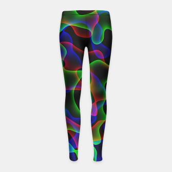 Thumbnail image of Plasma Color Waves Small Girl's leggings, Live Heroes