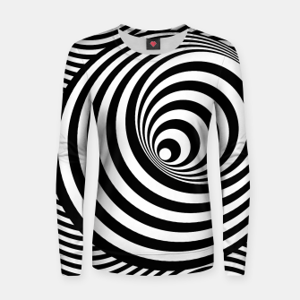Miniature de image de Seventies Suomi Inspired Black&White - 01 Woman cotton sweater, Live Heroes